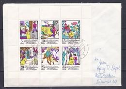DDR - 1972 - Michel Nr. 1801/1806 - Kleinbogen Auf Brief - DDR