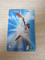 Prepaid Phonecard,basketball Star Michael Jordan,single Card From Set Of 4, Used With Some Scratch - Cina