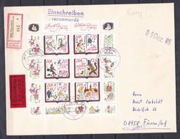 DDR - 1985 - Michel Nr. 2987/92 - Kleinbogen - Einschreiben - Eilsendung - ETB - DDR