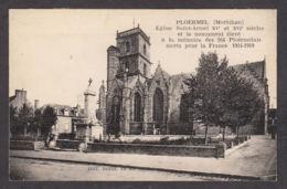 83145/ PLOERMEL, Eglise Saint-Armel Et Monument Aux Morts - Ploërmel