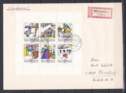 DDR - 1974 - Michel Nr. 1995/00 - Kleinbogen - Einschreiben - ETB - DDR