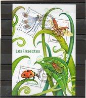 FRANCE    Feuillet 4 Timbres 0,73 €    2017   Y&T: F5148    Les Insectes   Oblitéré - Blocks & Kleinbögen