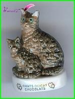 """Feve Les Races De Chat Cat Edition Atlas """" Les Ocicat Chocolat #A11 - Animaux"""