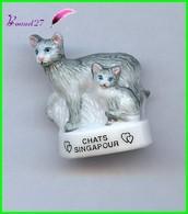 """Feve Les Races De Chat Cat Edition Atlas """" Les Singapour """" #A19 - Animali"""
