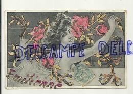 Jeune Femme  (genre Art Déco). Emilienne. Paillettes. 1905 - Prénoms