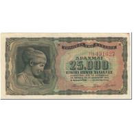 Billet, Grèce, 25,000 Drachmai, 1943, 1943-08-12, KM:123a, TTB - Grèce