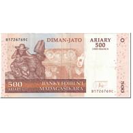 Billet, Madagascar, 500 Ariary, 2004, Undated (2004), KM:88b, TTB - Madagascar