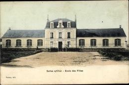 Cp Selles Sur Cher Loir Et Cher, Ecole Des Filles - France