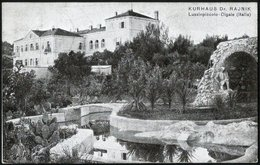 Croatia / Hrvatska:  Lussinpiccolo-Cigale (Mali Lošinj), Kurhaus Dr. Rajnik  1925 - Kroatien