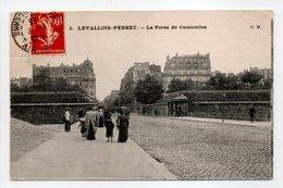 - CPA LEVALLOIS-PERRET (92) - La Porte De Courcelles 1913 (avec Personnages) - Edition C. M. N° 5 - - Levallois Perret