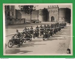 Moto Frera Milizia Grande Foto Anni 30 Motorcycles MVSN Motorbike San Paolo In Roma - Guerre, Militaire