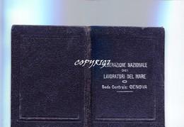 """TESSERA_TESSERE_DOCUMENTO/I-""""1919-FEDERAZIONE NAZIONALE LAVORATORI DEL MARE-SEDE CENTRALE GENOVA'"""" - Vecchi Documenti"""