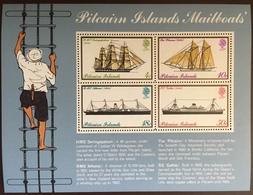 Pitcairn Islands 1975 Mailboats Minisheet MNH - Stamps
