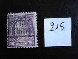 USA 1916-19 - B. Franklin 50c Violet - Y.T. 215 - Oblitéré - Used - Gestempeld - Etats-Unis