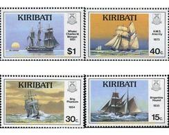 Ref. 337715 * MNH * - KIRIBATI. 1989. ANCIENT SAILING SHIPS . VELEROS ANTIGUOS - Barcos