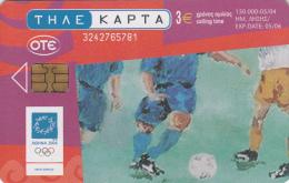 GREECE - Athens Olympics 2004, Football, Painting/Hatzakis, 05/04, Used - Olympische Spelen