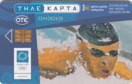 GREECE - Athens Olympics 2004, Swimming, Painting/Hatzakis, 07/04, Used - Olympische Spelen