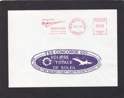 TSS CONCORDE  001. ECLIPSE TOTALE DE SOLEIL.VOL SPECIAL,LAS PALMAS-FORT LAMY,30 JUIN 1973. - Marcophilie (Lettres)