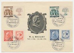 Card / Postmark Bohmen Und Mahren 1941 Mozart Celebration - Music