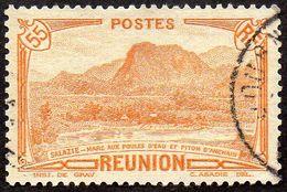 Réunion Obl. N° 136,A - Vue -> Salazie, Mare Aux Poules D'eau Et Piton D'Auchain 55 Cts Brun-orange - Oblitérés