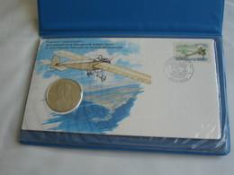 Enveloppe +timbres + Médaille - Centenaire De La Naissance De Roland Garros   **** EN ACHAT IMMEDIAT **** - France
