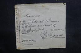GRECE - Enveloppe De Salonique Pour La Belgique En 1919 Avec Contrôle Postal , Affranchissement Au Verso - L 36443 - Grecia