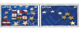 Ref. 145654 * MNH * - LATVIA. 2004. EUROPEAN UNION AMPLIATION . AMPLIACION DE LA UNION EUROPEA - Latvia