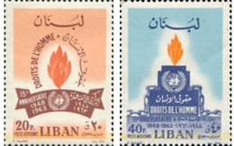 Ref. 338633 * MNH * - LIBAN. 1964. HUMAN RIGHTS . DERECHOS HUMANOS - Lebanon