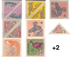 Ref. 20696 * MNH * - LIBERIA. 1953. BIRDS . AVES - Liberia