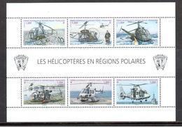TAAF - 2013 - BF Les Hélicoptères En Région Polaire ** - Blocks & Kleinbögen