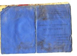 """TESSERA_TESSERE_DOCUMENTO/I-""""LICENZA PER CIRCOLAZIONE DI AUTOCARRO-MINISTERO TRASPORTI-SETT.1956- - Vieux Papiers"""