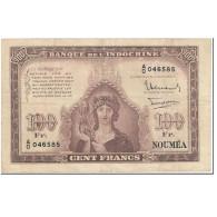 Billet, Nouvelle-Calédonie, 100 Francs, 1942, Undated (1942), KM:44, TB - Nouméa (Nuova Caledonia 1873-1985)