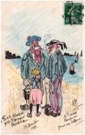 56 PLOEMEUR - FORT-BLOQUE - Croquis Original D'un Illustrateur - Plömeur