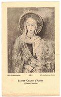 AZILLE LES CLARISSES 1953 SAINTE CLAIRE D'ASSISE 7e CENTENAIRE IMAGE PIEUSE RELIGIEUSE HOLY CARD SANTINI HEILIG PRENTJE - Santini