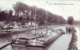 Cpa CREVECOEUR SUR ESCAUT : Vue Sur Le Canal 1905 - Autres Communes