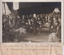INAUD DU MONUMENT DU ROI EDOUARD A CANNES POINCARE 18*13CM Maurice-Louis BRANGER PARÍS (1874-1950) - Personalidades Famosas