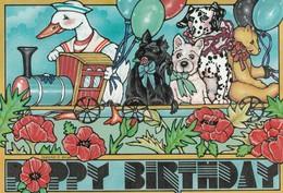 "Artist Leanne C. BOYD , 1987 : ""Poppy Birthday"" - Künstlerkarten"
