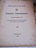 BRUXELLES Aero-Club De Belgique Concours Internationaux Du 15.9.1907 - 1914-18