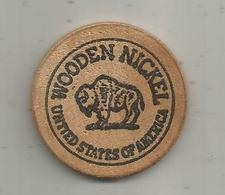 Jeton , Bois , WOODEN NICKEL , United States Of America ,museum Of Magio , MARSHALL ,Mich. - Professionnels/De Société