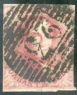 N°5 - Médaillon 40 Centimes Carmin-rose, Obl; P23 BRUGES Centrale. - 14461 - 1849-1850 Medallions (3/5)