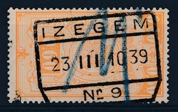 """TR 136 -  """"IZEGEM Nr 9"""" - (ref.28.170) - Chemins De Fer"""