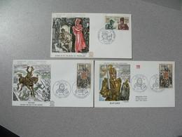 FDC France 1969   N° 1616 - 1617 - 1618 - 1960-1969