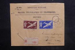 CÔTES DES SOMALIS - Enveloppe Des PTT En Recommandé De Djibouti Pour La France En 1945, Affr. Plaisant - L 36452 - Côte Française Des Somalis (1894-1967)