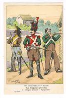 Uniforme.1er Empire. Les Dragons à Pied.Dragons Démontés. 1813.  BUCQUOY.  (105) - Uniforms