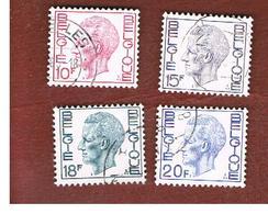 BELGIO (BELGIUM)   - SG 2218.2222 - 1971 KING BAUDOUIN   - USED - Belgio