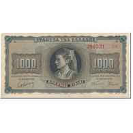 Billet, Grèce, 1000 Drachmai, 1942, 1942-08-21, KM:118a, SUP - Grèce
