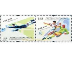 Ref. 4507 * MNH * - MACAO. 2002. FOOTBALL WORLD CUP. SOUTH KOREA AND JAPAN-02 . COPA DEL MUNDO DE FUTBOL. COREA DEL SUR - 1999-... Région Administrative Chinoise