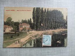 CPA TOILE 94 SAINT MAUR QUAI DU PORT AU FOUARE - Saint Maur Des Fosses