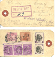 USA 1955  Label Registered No 29  With Stamps Back  Ringcancellation - Lettres & Documents