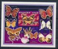 Burkina Faso S Butterflies Papillons Orchidée Orchid  Imperf MNH - Scoutisme